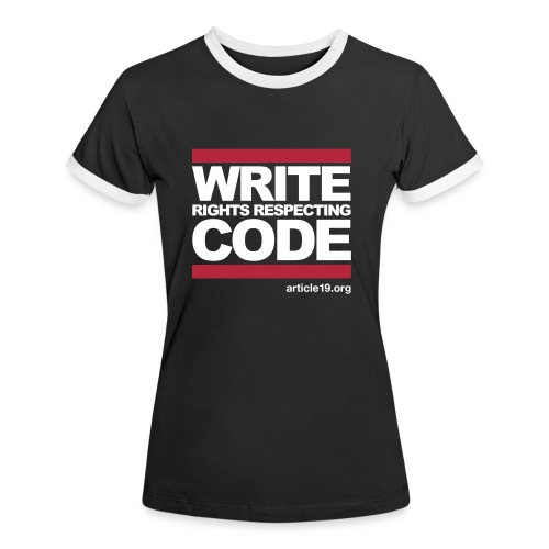 Women Contrast Write Code - Women's Ringer T-Shirt