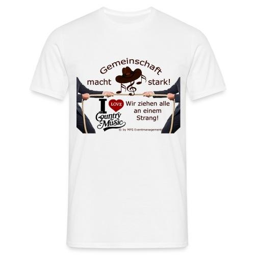 Herren T-Shirt Gemeinsschaft - Männer T-Shirt