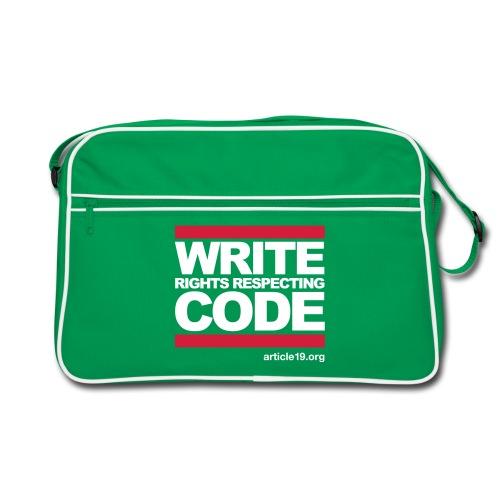 Bag Write Code - Retro Bag