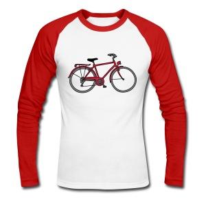 Fahrrad 3 - Männer Baseballshirt langarm