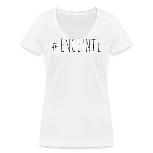 Tee-shirt #ENCEINTE - T-shirt bio col V Stanley & Stella Femme