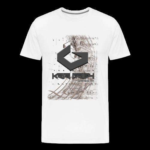 Kris Grey Music Design BIG - Männer Premium T-Shirt