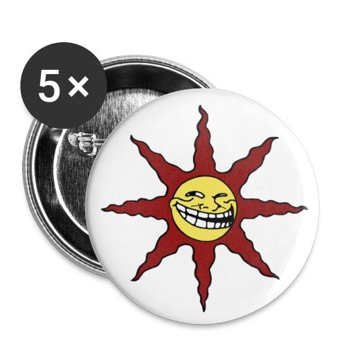 TrollSun-Button (32 mm) (5 Stück) - Buttons mittel 32 mm