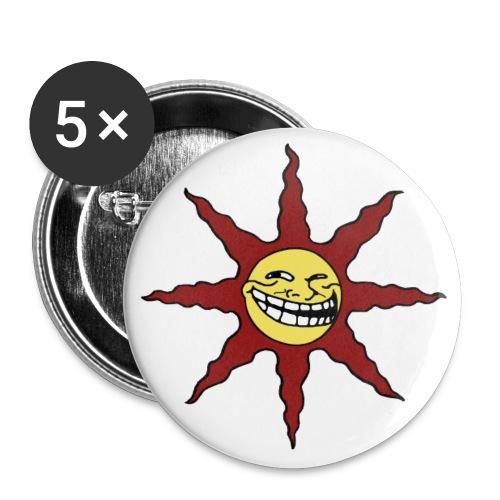 TrollSun-Button (56 mm) (5 Stück) - Buttons groß 56 mm