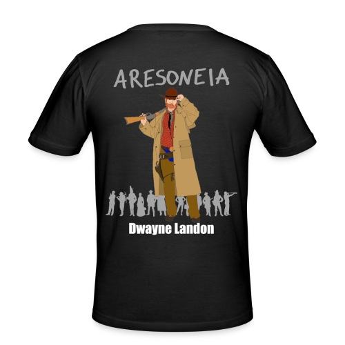 Aresoneia-Landon (Weiß) - Herren-Slim-Fit-Shirt - Männer Slim Fit T-Shirt