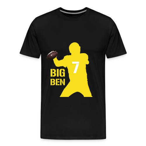 Big Ben Shirt black yellow - Männer Premium T-Shirt