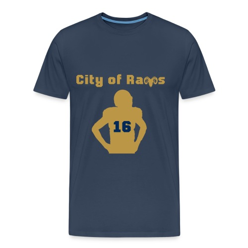 City of Rams Shirt navy gold - Männer Premium T-Shirt