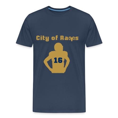 City of Rams Shirt navy gold - Männer Premium T-Shirt