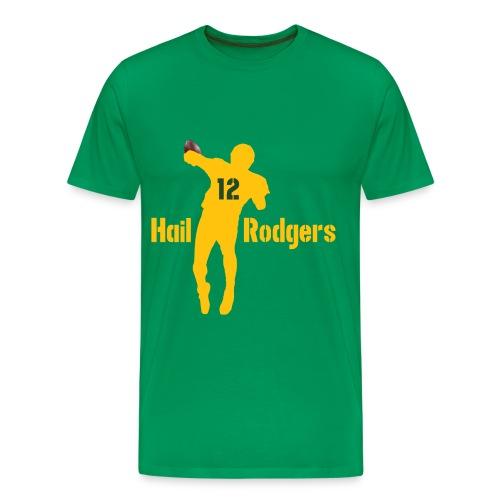 Hail Rodgers Shirt green yellow - Männer Premium T-Shirt