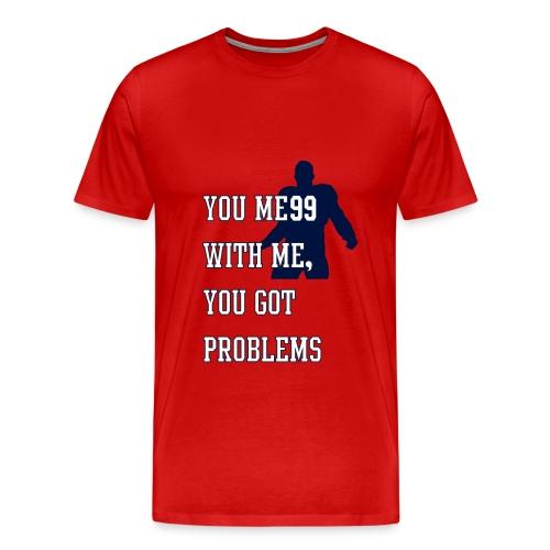 JJ Watt Shirt red navy - Männer Premium T-Shirt