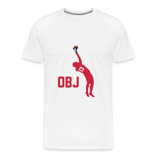 OBJ Shirt white red - Männer Premium T-Shirt