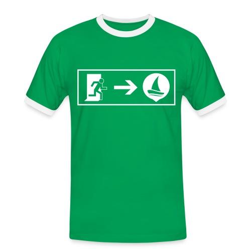 Exit - SailNow - Kapitän - Männer Kontrast-T-Shirt