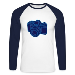 Fotoapparat 2 - Männer Baseballshirt langarm