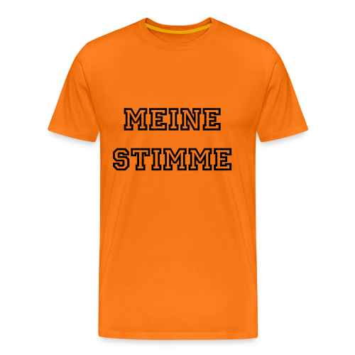 Herrem T-shirt I Orange - Männer Premium T-Shirt