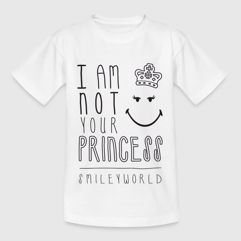SmileyWorld I am not your Princess - Teenager T-Shirt