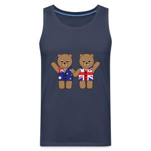 British Australian Friend Bears tank - Men's Premium Tank Top