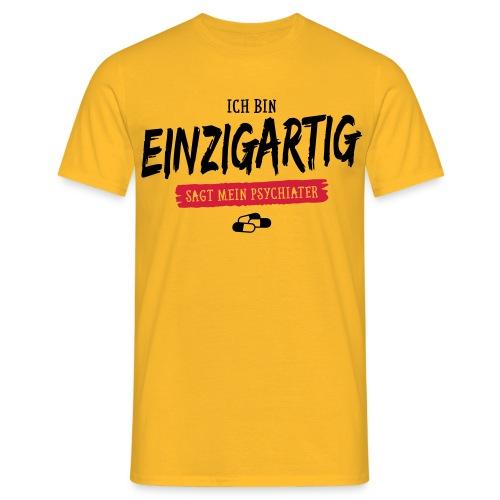 Funshirt - Ich bin Einzigartig - Männer T-Shirt