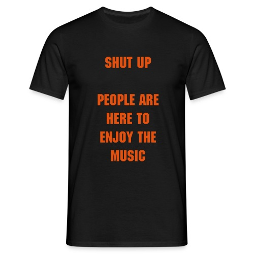 Enjoy the music (front print) - Mannen T-shirt