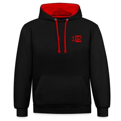 S15 Black & Red Hoodie - Contrast Colour Hoodie