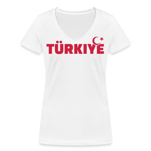 Turquie femme - T-shirt bio col V Stanley & Stella Femme