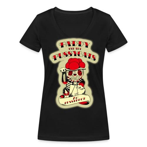 PATPC's-W2blk - Frauen Bio-T-Shirt mit V-Ausschnitt von Stanley & Stella