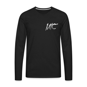 MTC T-shirt, Long Sleeve (White Print, Men) - Mannen Premium shirt met lange mouwen