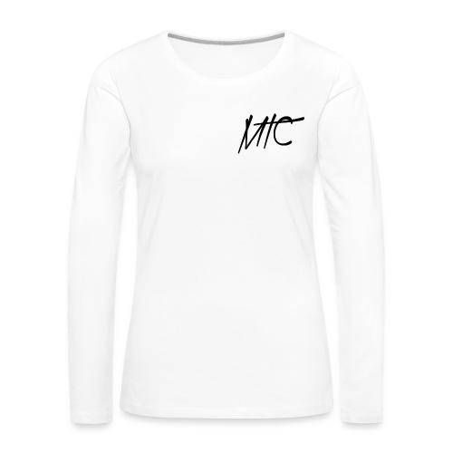 MTC T-shirt, Long Sleeve (Black Print, Women) - Vrouwen Premium shirt met lange mouwen
