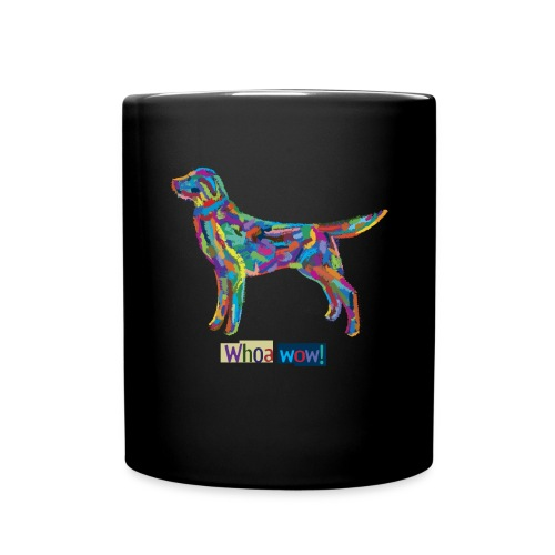 Bunter Hund-Tasse - Tasse einfarbig