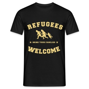 Refugees Welcome Family T-Shirt - Men's T-Shirt