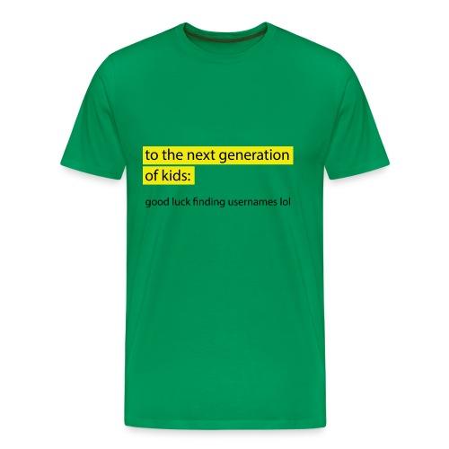 Good Luck - Premium-T-shirt herr