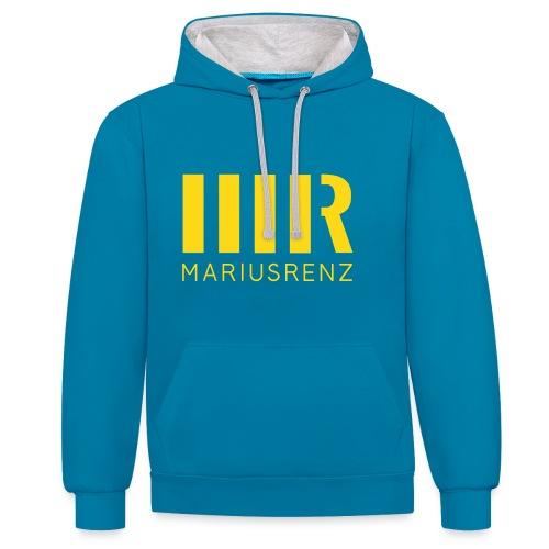 Marius Renz Typographie Hoodie - Kontrast-Hoodie