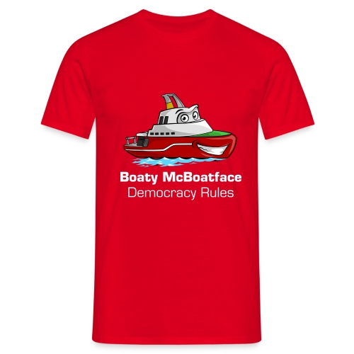 Boaty McBoatface - Democracy Rules t-shirt - Men's T-Shirt