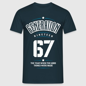Generation 67 T-shirts - Mannen T-shirt