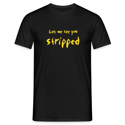 stripped_font - Männer T-Shirt