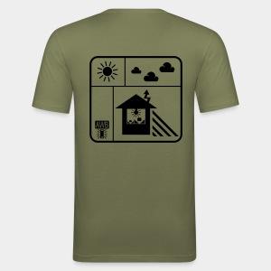 Happy White Balance - Back - Männer Slim Fit T-Shirt