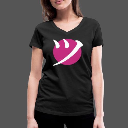 Pink Smile on Black - Frauen Bio-T-Shirt mit V-Ausschnitt von Stanley & Stella