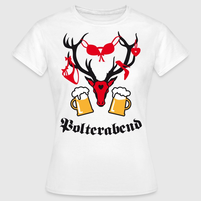 Hirsch Polterabend JGA BFF Bier Beer Party T-Shirt - Frauen T-Shirt