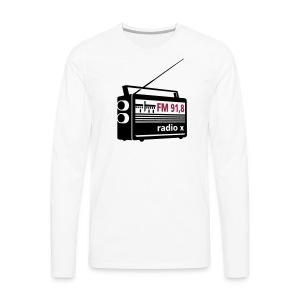 radio x - schwarz - Männer Premium Langarmshirt
