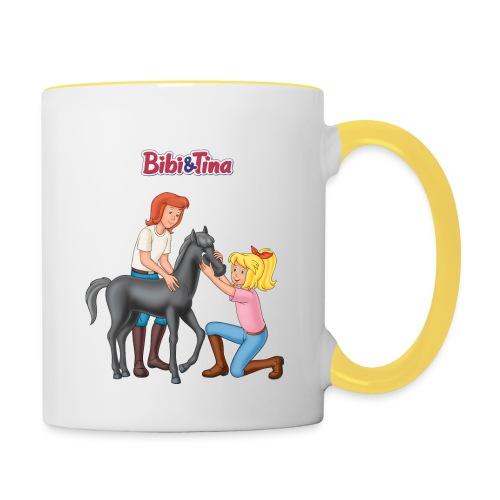 Bibi und Tina 'Schmuseeinheit mit Fohlen Felix' - Tasse zweifarbig