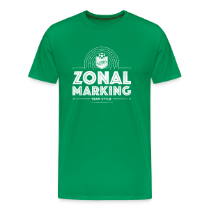 Men's Zonal Marking T-Shirt - Green/White - Men's Premium T-Shirt