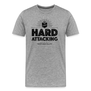 Men's Hard Attacking T-Shirt - Gray/Black - Men's Premium T-Shirt