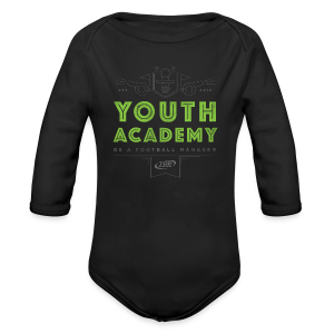 Babies Youth Academy One-Piece - Black/Lime Green - Organic Longsleeve Baby Bodysuit