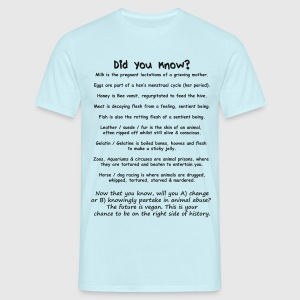 Did you know? Vegan facts T-Shirts - Men's T-Shirt