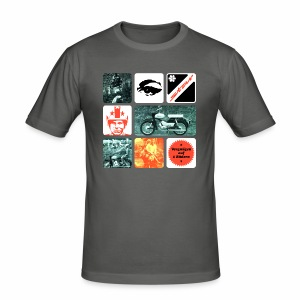 Moped Star - Männer Slim Fit T-Shirt