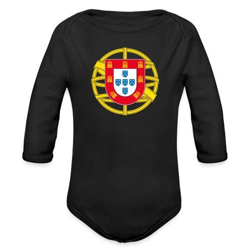 Portugal Brasão Baby Bodys - Baby Bio-Langarm-Body