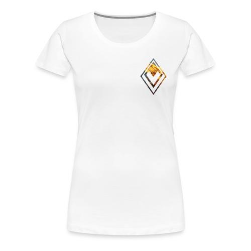 Mountain Logo And Text Front/Back Woman - Maglietta Premium da donna