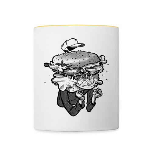 I am Hamburger Coffee Cup - Contrasting Mug