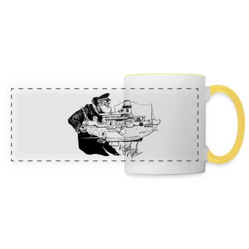 A Captain's Gentle Push Coffee Cup - Panoramic Mug