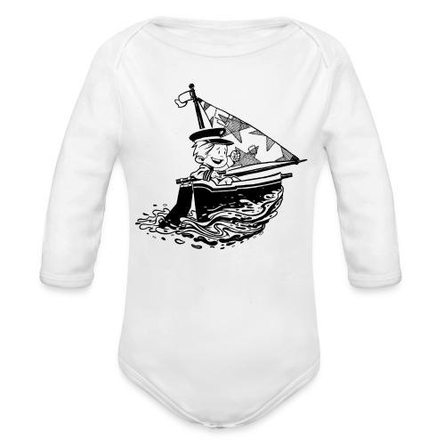 A Captain's Boy Baby Longarm Jumper - Organic Longsleeve Baby Bodysuit