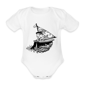 A Captain's Boy Baby Jumper - Organic Short-sleeved Baby Bodysuit